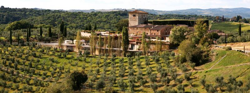 castell in villa vin Toscana Non Dos